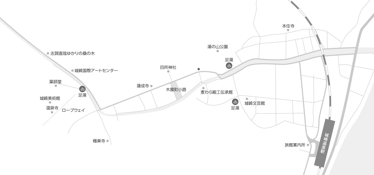城崎観光マップ